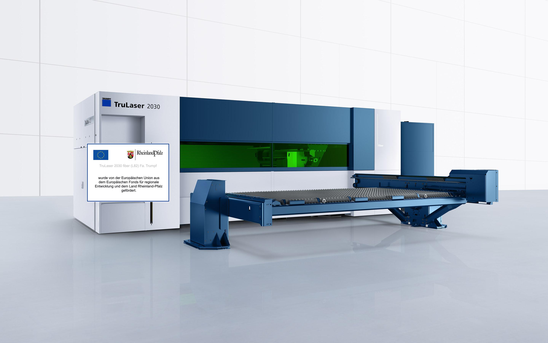 Das Vorhaben ersetzt eine 2D-Laseranlage aus dem Jahr 2010 mit 2 kW Laserleistung.